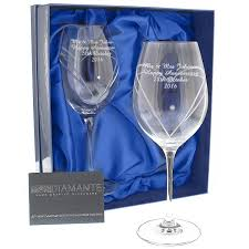 swarovski heart wine glasses personalised amazon co uk kitchen