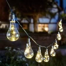 solar powered outdoor light bulbs eureka light bulb string solar powered outdoor garden lights 3 8m