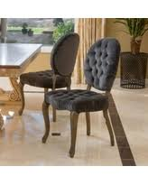 Noble House Dining Chairs Great Deals On Ayla New Velvet Dining Chairs Set Of 2 Charcoal