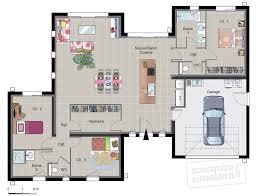 plan maison rdc 3 chambres maison contemporaine de plain pied d du plan de maison avec