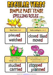 regular verbs esl printable worksheets and exercises