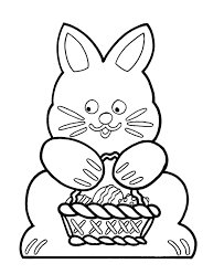 easter egg coloring pages bluebonkers bunny basket outline