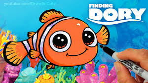 draw nemo step step cute clown fish finding dory