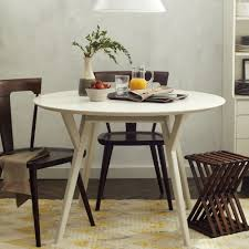 west elm round dining table dining room cordial mid century room