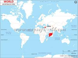 syria on map where is syria location of syria on a world map