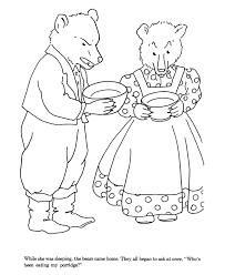 goldilocks bears coloring pages kids coloring