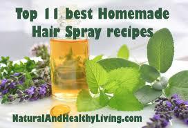 top 11 diy homemade hair spray recipes natural and healthy living