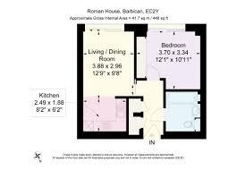 1 bed flat for sale in roman house wood street st pauls ec2y