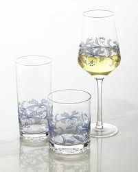 spode blue italian wine glasses set of 4