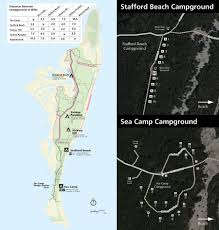 First Landing State Park Trail Map by Maps Cumberland Island National Seashore U S National Park