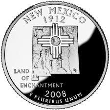 State Quarters Map by New Mexico State Quarter U S Mint