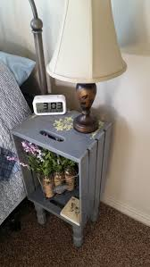 Small Bedroom Night Stands Attractive Wooden Crate Nightstand Magnificent Small Bedroom