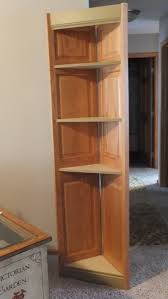 wood book shelves with natural corner folding solid bookcase ideas