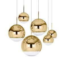 Gold Pendant Lighting Mirror Gold Pendant Light By Tom Dixon