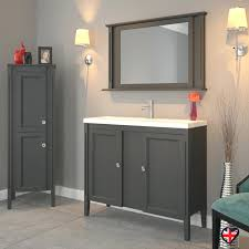 White Corner Bathroom Cabinet Large Bathroom Cabinet Solid Grey Oak 2 Door Bathroom Vanity Unit