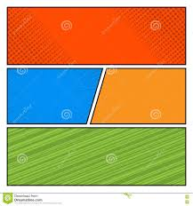 comics color pop art style blank layout template stock vector