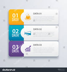 3 infographic tab index banner design stock vector 670401625