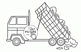 dump truck tonka coloring page for kids transportation coloring
