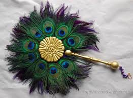 peacock feather fan gemina renaissance feather fan sapphire renaissance