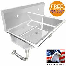 wall mount stainless steel sink industrial 2 station multiuser wash up hand sink 36 wall mount