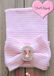 newborn hospital beanie bling broche baby beanie pink baby