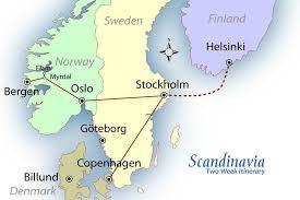 map of europe scandinavia scandinavia suggested itinerary europe travel