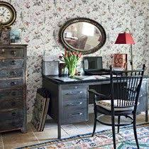 Kansas City Interior Design Firms by Black And White Home Office Woods Wallpaper Modern Office