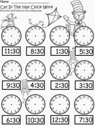 worksheet containing 9 analogue clocks showing o u0027clock half past