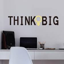 Vinyl Wall Decals by Vinyl Wall Stickers Quotes Think Big Removable Decorative Decals