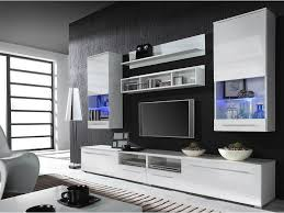 Tv Unit Design For Hall by Kansas 5 White Entertainment Center Modern Wall Units Living