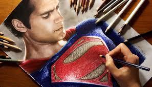 speed drawing superman henry cavill jasmina susak