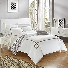 Embroidered Duvet Cover Sets Amazon Com 5 Piece Hotel Collection 500 Thread Count Cotton Duvet