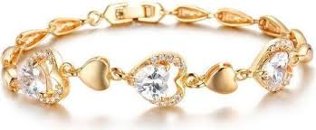 ladies bracelet design images Opk romantic heart design bracelet with cubic zirconia fashion jpg