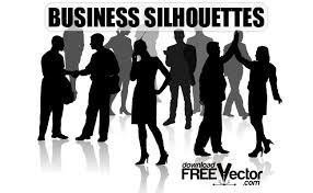 free silhouette images business silhouette people free vector art