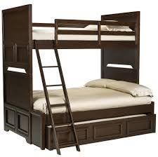 Queen Twin Bunk Bed Plans by Furniture Of America Curtine Classic Dark Walnut Twin Over Full