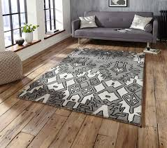 Stylerug by Spectrum Hand Tufted Modern Aztec Style Rug 100 Wool Large Centre