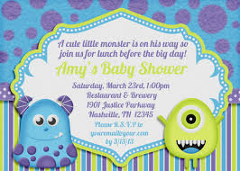 top 20 monster baby shower invitations which viral in 2017