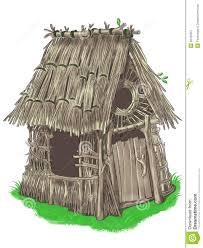fairy house from three little pigs fairy tale stock illustration
