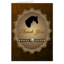 western thank you greeting cards zazzle