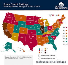 50 State Map Monday Map State Credit Ratings Tax Foundation