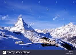 switzerland zermatt the matterhorn hotel located in the mountains