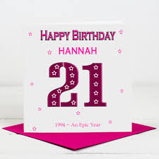 lisa marie designs 21st birthday card for her