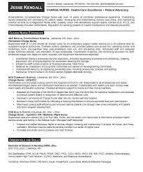 charge nurse resume sample resume samples and resume help