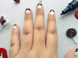 easy penguin nail tutorial two different worlds