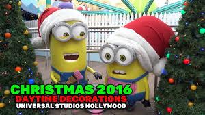 christmas decorations daytime at universal studios hollywood