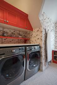 red cabinet paint color laundry room with red cabinets laundry