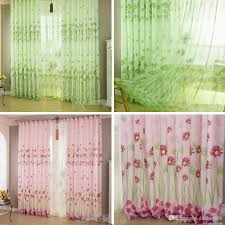 home sunflower printed curtains short curtain window curtain drape