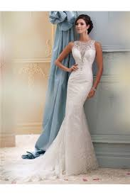 plunging neckline wedding dress mermaid plunging neckline see through back lace beaded wedding dress