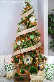 my home style green and gold global eclectic christmas tree