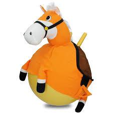 Small Space Hopper - 40cm plush pony space hopper orange horse space hoppers uk